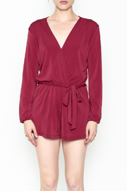 L'atiste Jasmine Red Romper - Front full body