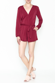 L'atiste Jasmine Red Romper - Side cropped