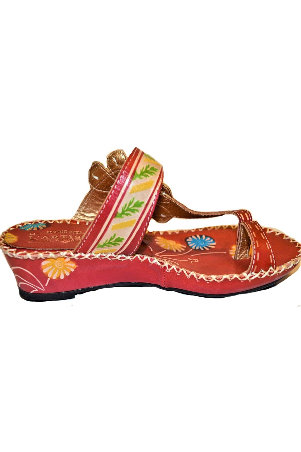 34ca6c97314b84 L atiste Red Santorini Sandals from South Carolina by White Rose ...