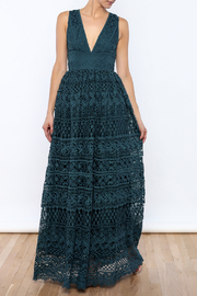 L'atiste Lace Brocade Gown - Product Mini Image