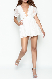 L'atiste Lace White Romper - Side cropped