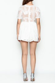 L'atiste Lace White Romper - Back cropped