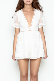 L'atiste Lace White Romper - Front full body