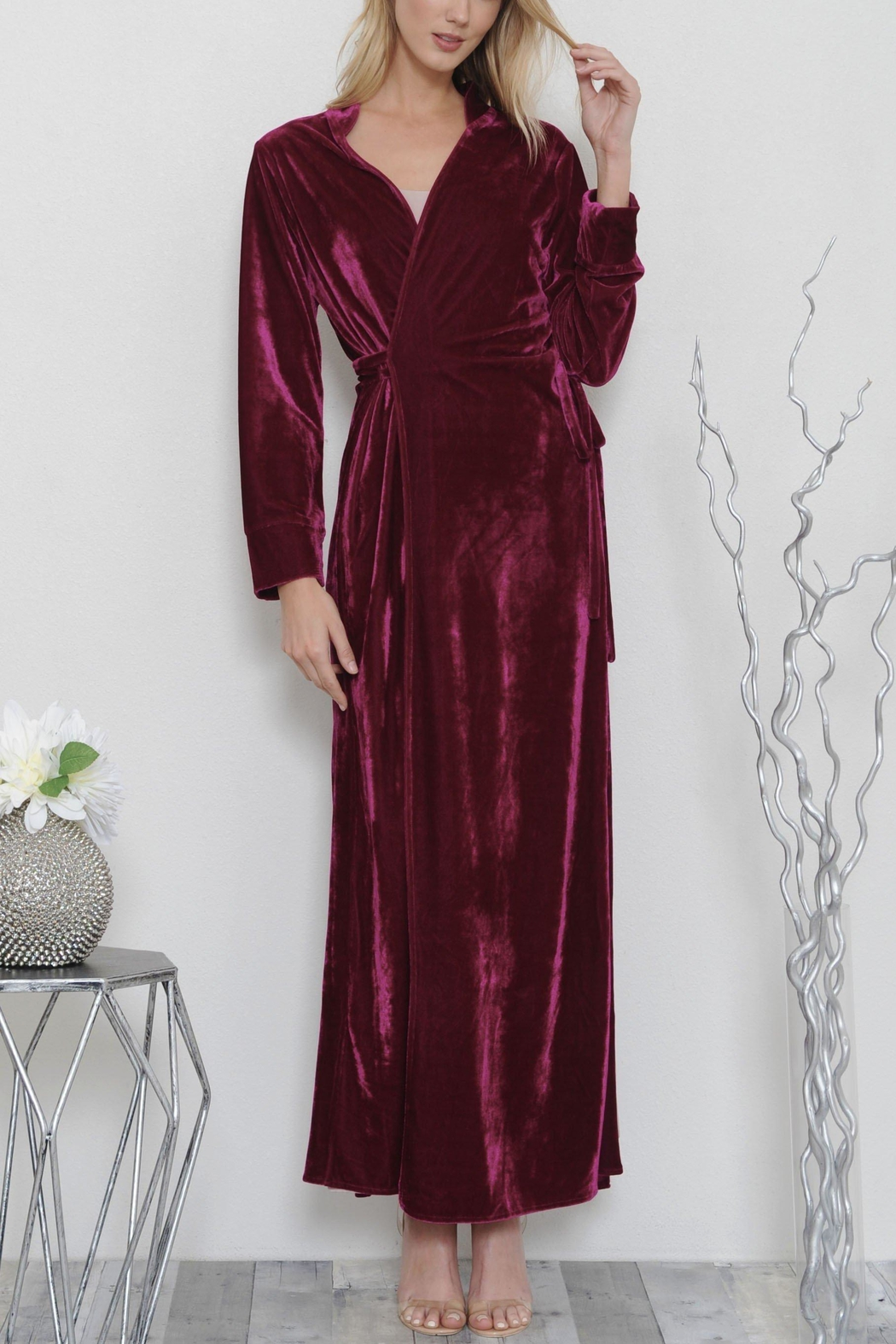 L'atiste Luxe Maxi Coat Dress - Front Full Image