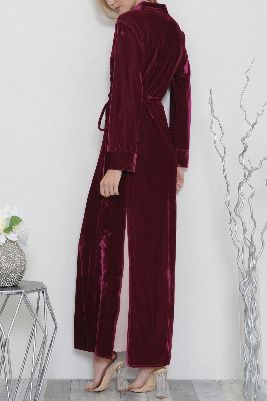 L'atiste Luxe Maxi Coat Dress - Side Cropped Image