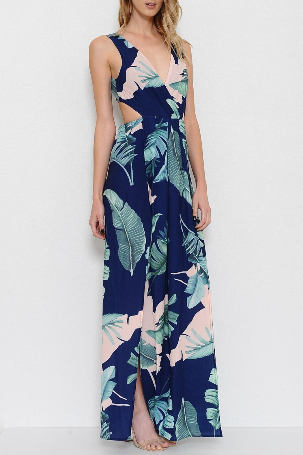 L'atiste Electric Maxi Dress - Side Cropped Image
