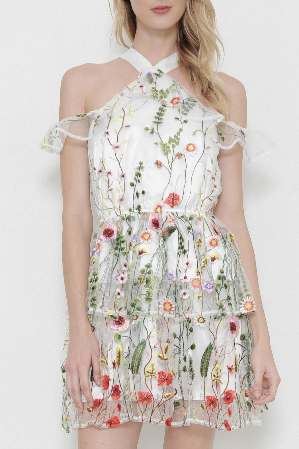 L'atiste Mesh Flower Dress - Main Image