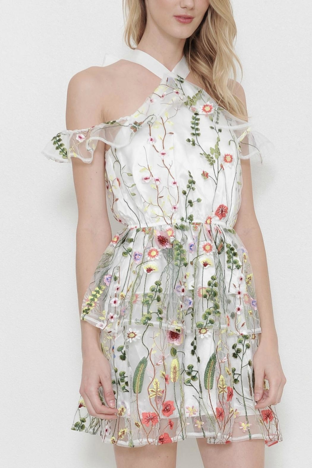 L'atiste Mesh Flower Dress - Front Full Image