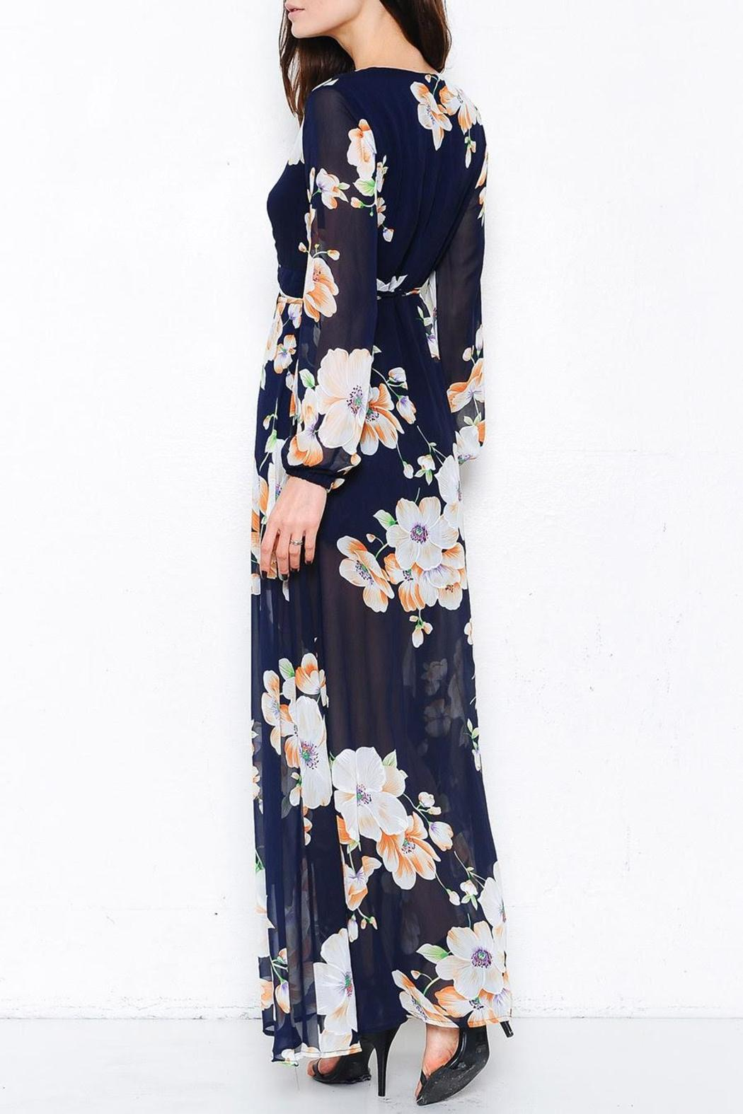 L'atiste Odyssey Floral Maxi - Side Cropped Image