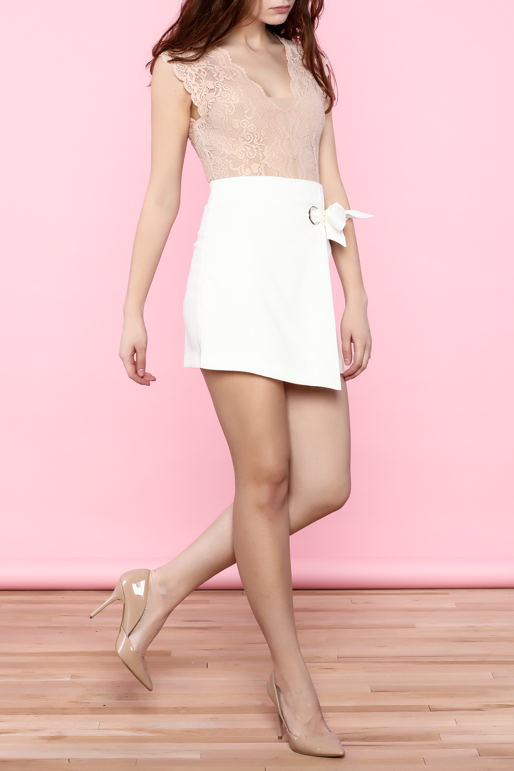 L'atiste Pink Lace Bodysuit from Texas by Chic'tique ...