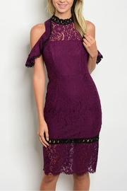 L'atiste Plum Lace Dress - Front cropped