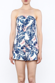 L'atiste Strapless Tropical Romper - Front full body
