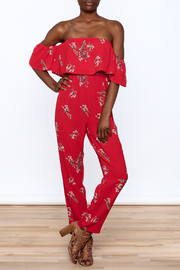 L'atiste Red Tiered Jumpsuit - Product Mini Image