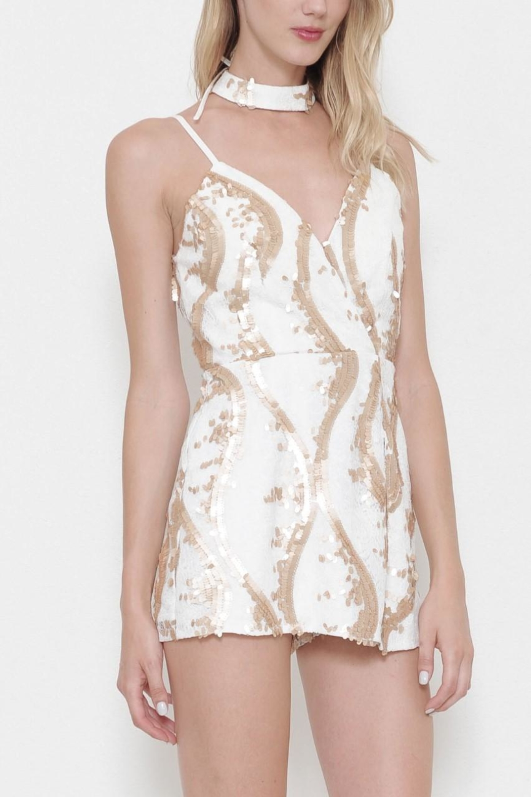 L'atiste Silver Romper - Front Full Image