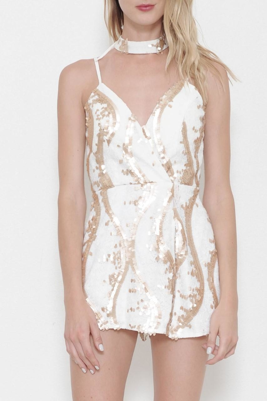 L'atiste Silver Romper - Front Cropped Image