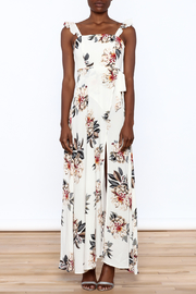 L'atiste Beige Floral Maxi Dress - Front cropped