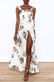 L'atiste Beige Floral Maxi Dress - Product Mini Image