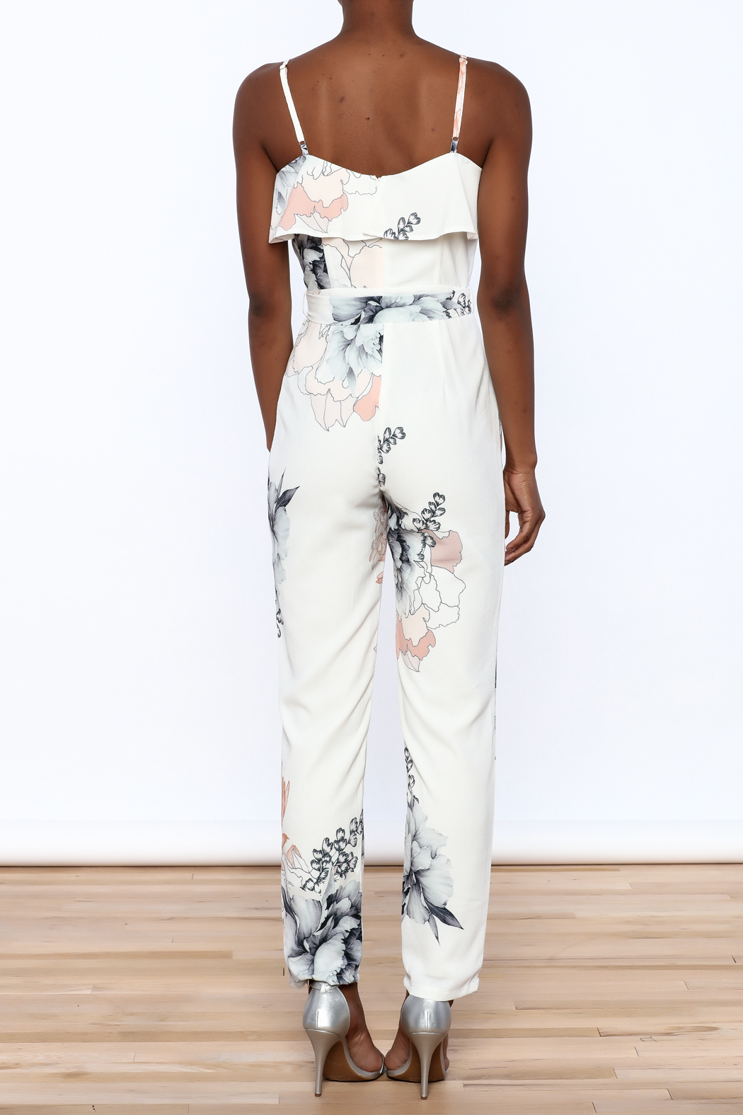 L'atiste Floral Sleeveless Jumpsuit - Back Cropped Image