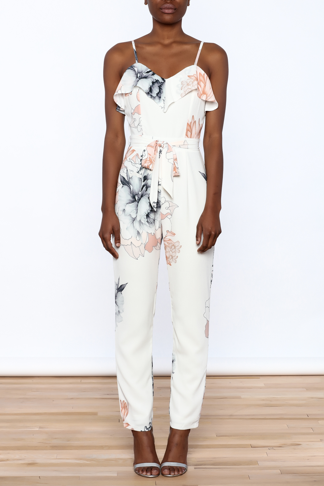 L'atiste Floral Sleeveless Jumpsuit - Front Cropped Image