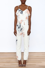 Shoptiques Product: Floral Sleeveless Jumpsuit - Front cropped
