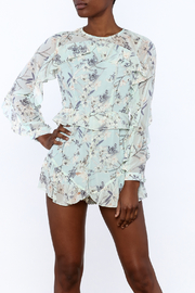 L'atiste Soft Blue Floral Romper - Product Mini Image
