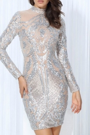 L'atiste Sequin Longsleeve Dress - Front cropped