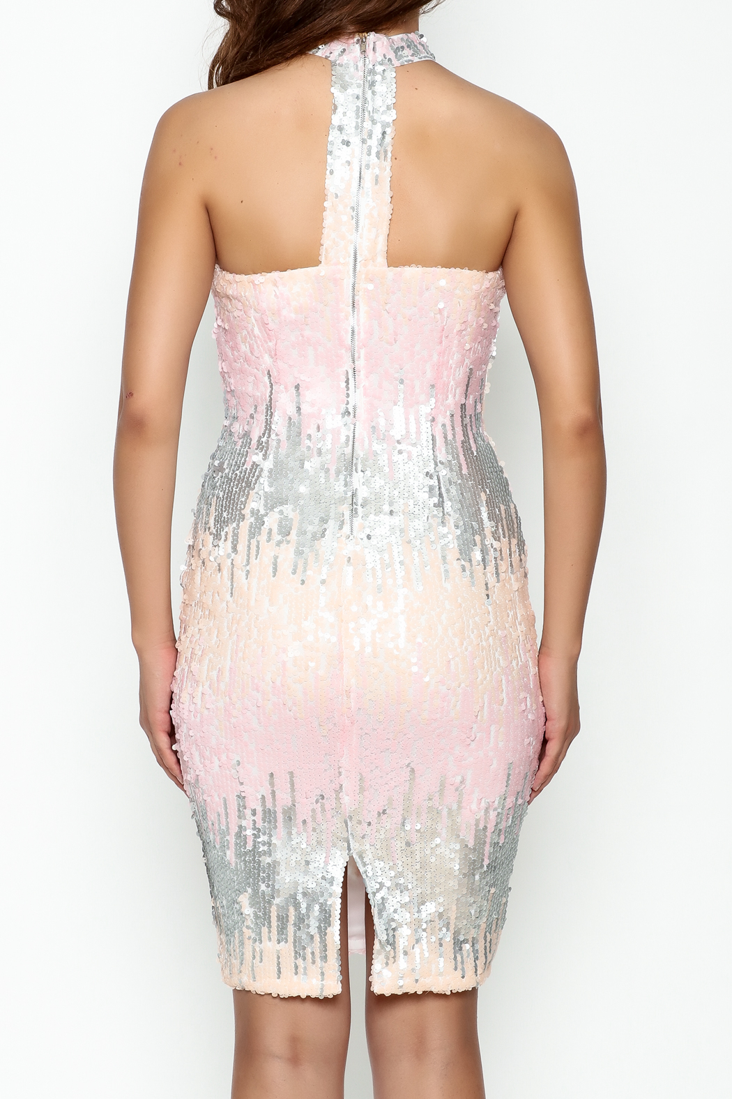 L'atiste Sequin Midi Dress - Back Cropped Image