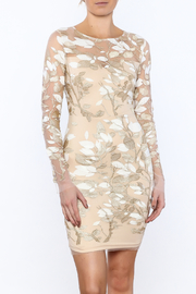 L'atiste Sheer Gold Floral Dress - Product Mini Image