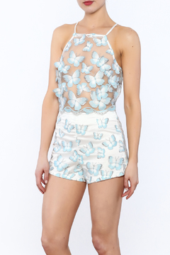 Shoptiques Product: Butterfly Mesh Romper