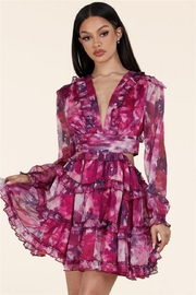 L'atiste Spring Floral Dress - Product Mini Image
