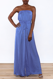 L'atiste Blue Strapless Jumpsuit - Product Mini Image