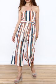 L'atiste Stripe Print Strapless Jumpsuit - Product Mini Image