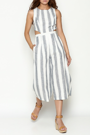 L'atiste Stripe Open Jumpsuit - Front cropped
