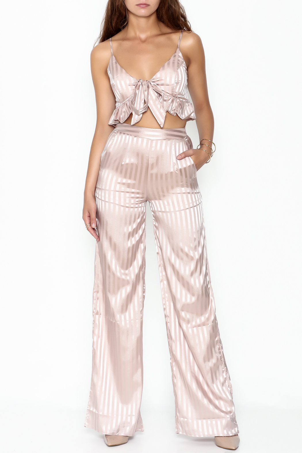 L'atiste Stripe Pant Set - Main Image