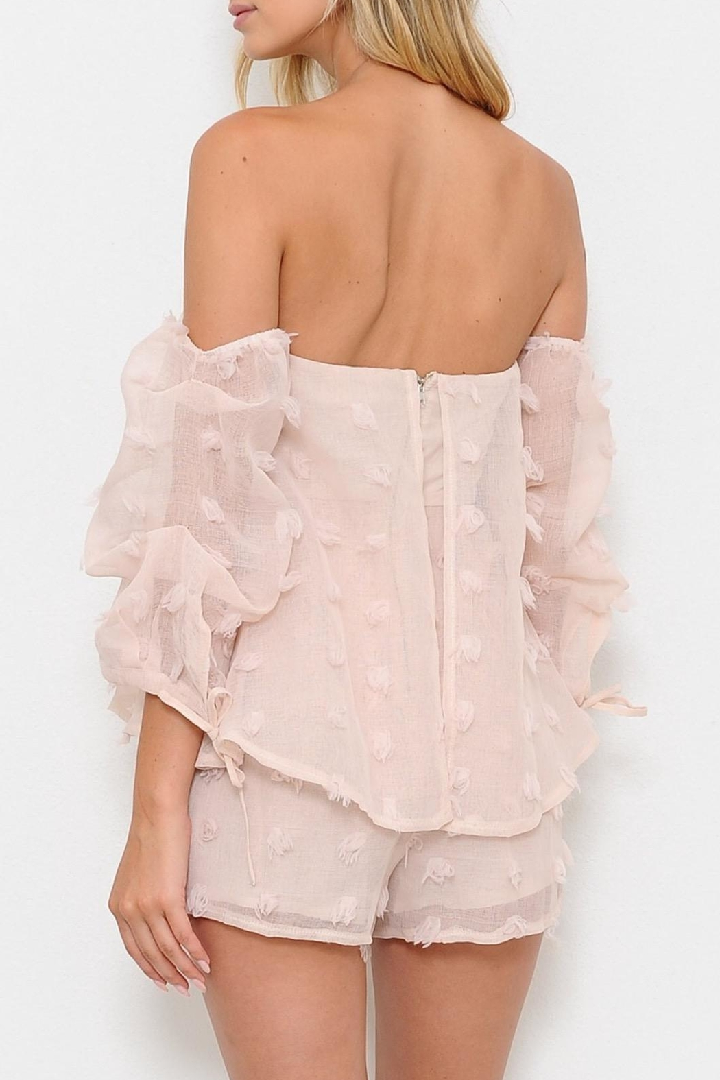 L'atiste Textured Romper - Side Cropped Image