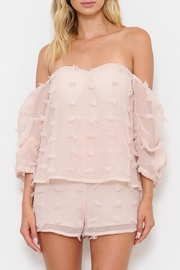 L'atiste Textured Romper - Front cropped