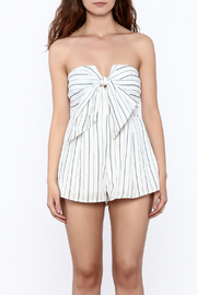 L'atiste Stripe Print Strapless Romper - Side cropped