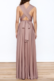 L'atiste Tie Up Maxi Dress - Back cropped
