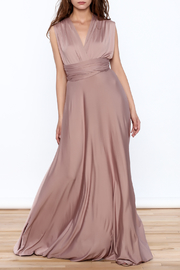 L'atiste Tie Up Maxi Dress - Front cropped