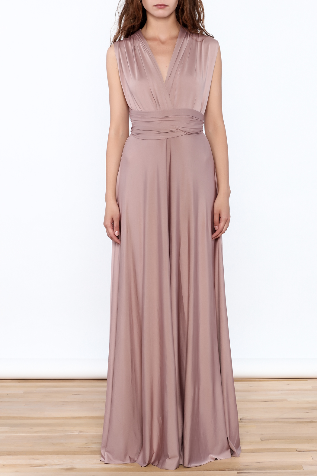 L'atiste Tie Up Maxi Dress - Front Full Image