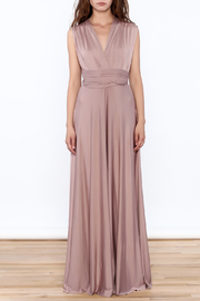 L'atiste Tie Up Maxi Dress - Front full body