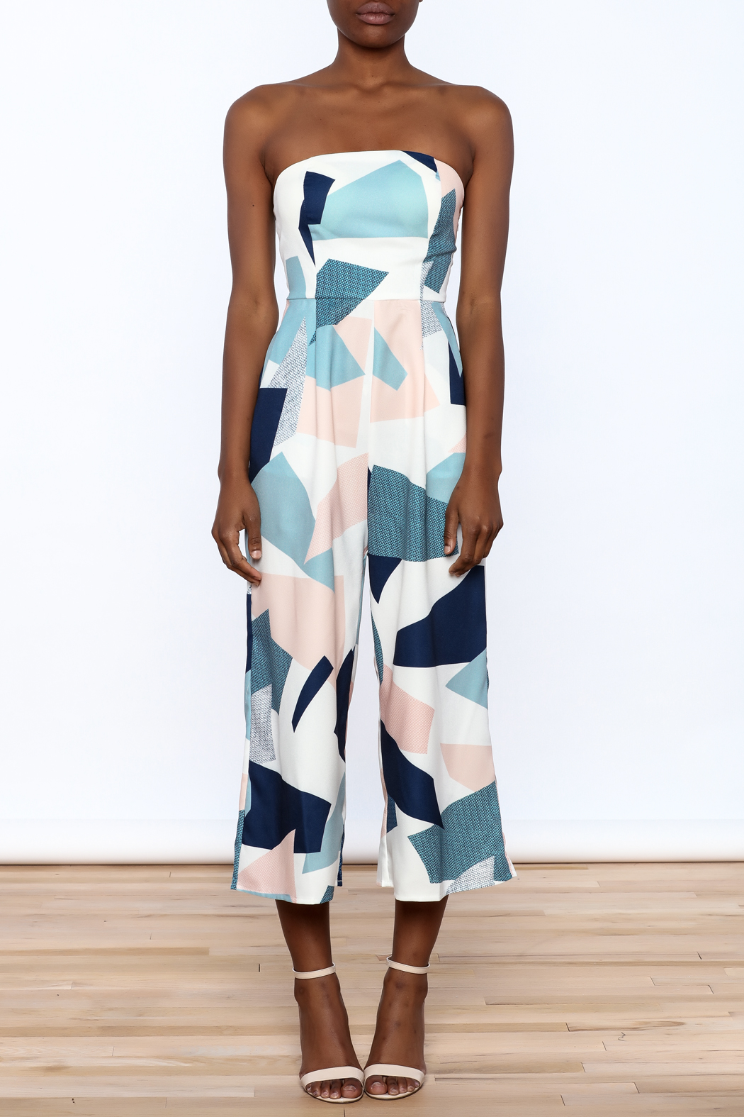 L'atiste Strapless Midi Jumpsuit - Front Cropped Image
