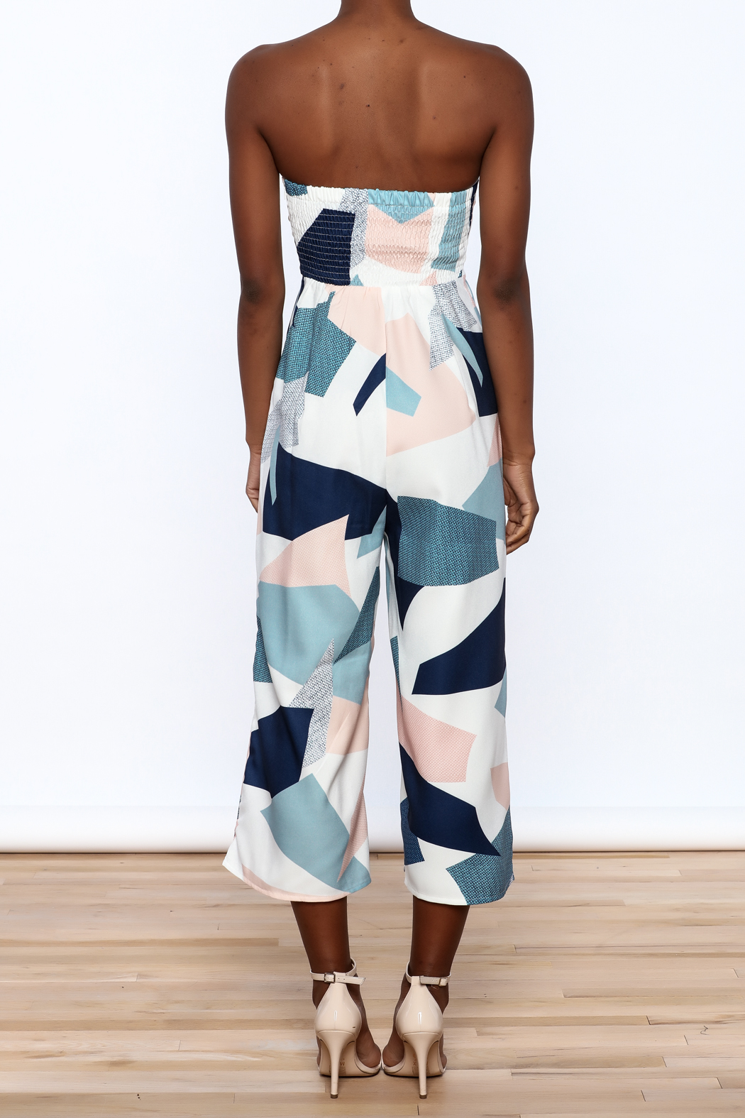 L'atiste Strapless Midi Jumpsuit - Back Cropped Image