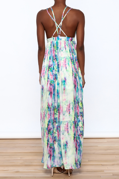 L'atiste Watercolor Strappy Maxi Dress - Alternate List Image
