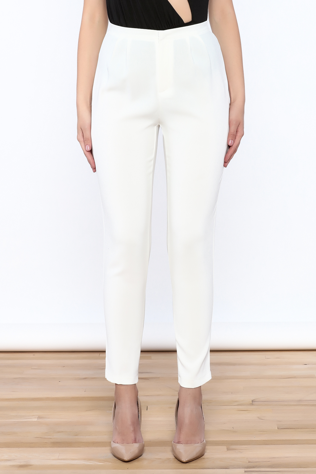 L'atiste White Skinny Pants - Side Cropped Image