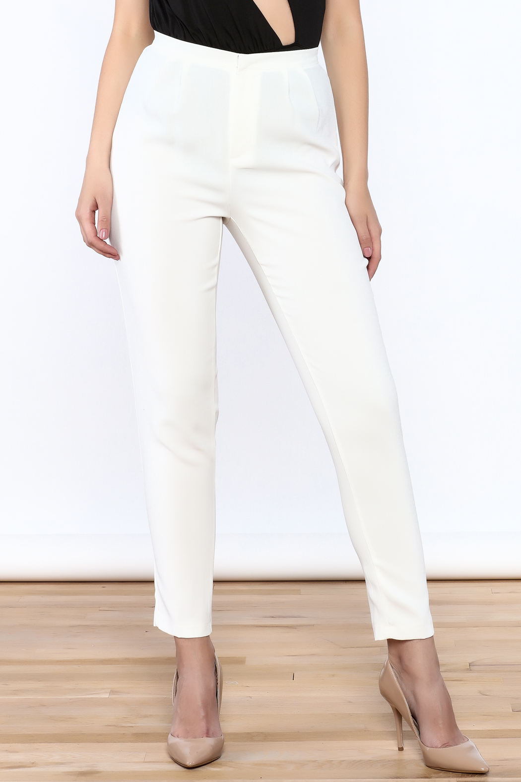 L'atiste White Skinny Pants - Front Cropped Image