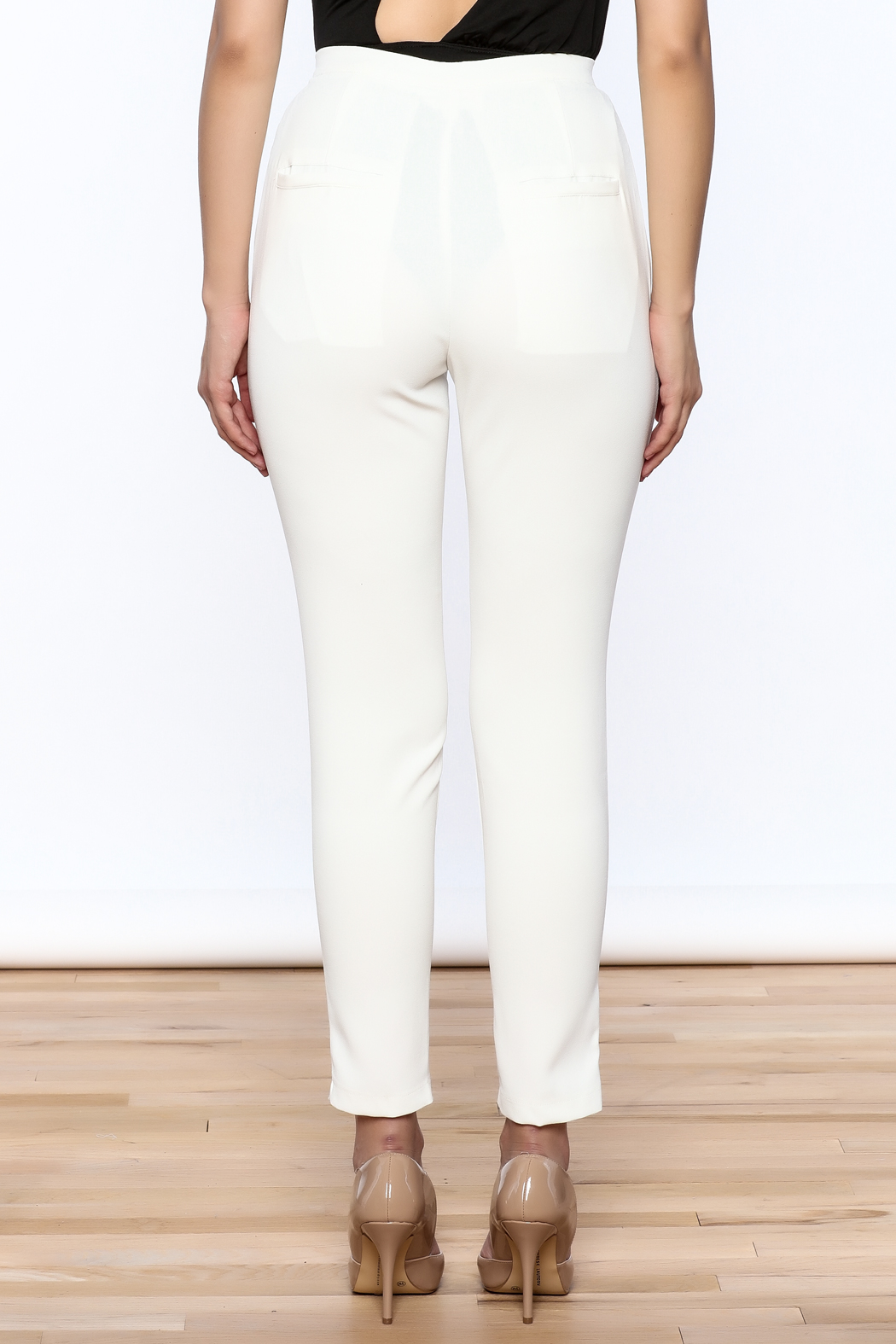 L'atiste White Skinny Pants - Back Cropped Image