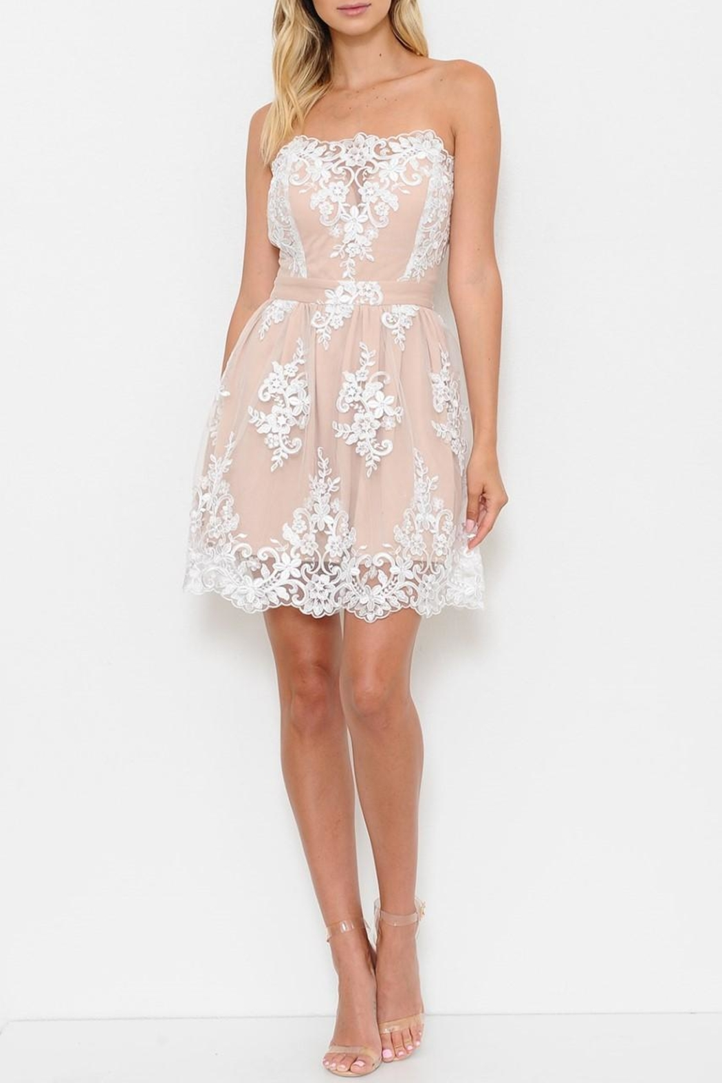 L'atiste White Lace Dress - Front Cropped Image