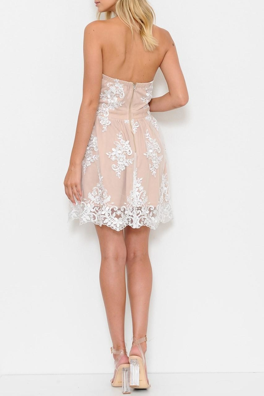L'atiste White Lace Dress - Side Cropped Image
