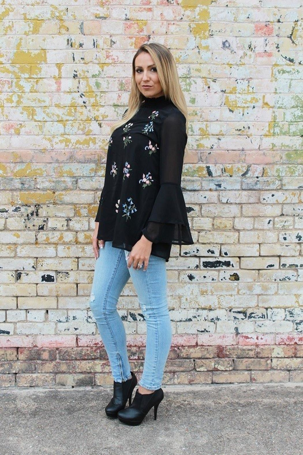 L&B Bell Sleeve Tunic. - Front Full Image